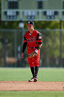Jordan Andrade during the WWBA World Championship at the Roger Dean Complex on October 19, 2018 in Jupiter, Florida.  Jordan Andrade is a shortstop from Yucaipa, California who attends Yucaipa High School and is committed to Washington.  (Mike Janes/Four Seam Images)