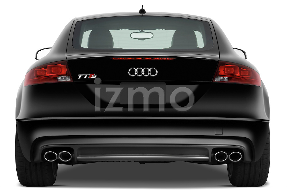 Straight rear view of a 2010 Audi TTS Coupe