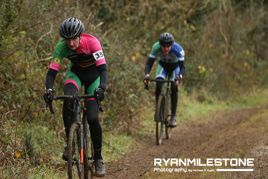 EVENT:<br /> Round 5 of the 2019 Munster CX League<br /> Drombane Cross<br /> Sunday 1st December 2019,<br /> Drombane, Co Tipperary<br /> <br /> CAPTION:<br /> Mark McGlynn of Killarney Cycling Club in action during the A Race - Junior<br /> <br /> Photo By: Michael P Ryan