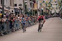 Marcel Sieberg (DEU/Lotto-Soudal) being playful at the Team presentation in La Roche-sur-Yon<br /> <br /> Le Grand Départ 2018<br /> 105th Tour de France 2018<br /> ©kramon