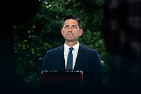 Chad Wolf, acting secretary of the Department of Homeland Security (DHS), speaks during a television interview outside the White House in Washington D.C., U.S., on Tuesday, June 23, 2020.  Credit: Stefani Reynolds / CNP/AdMedia
