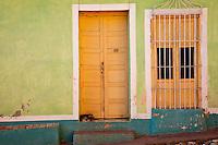 Cuba, Trinidad.  Door and Window with Grille.