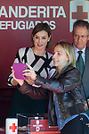 Queen Letizia of Spain takes a selfie picture during the Red Cross Fundraising day event (Dia de la Banderita) in Madrid, Spain. October 02, 2015. (ALTERPHOTOS/Victor Blanco)
