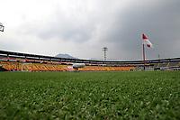 BOGOTA - COLOMBIA, 14-02-2021: Panoramica estadioNemesio Camach El Campin antes de partido de la fecha 6 entre Independiente Santa Fe y Atletico Bucaramanga, por la Liga BetPlay DIMAYOR I 2021, en el estadio Nemesio Camacho El Campin de la ciudad de Bogota. / Panoramic view of the Nemesio Camacho El Campin prior a match of the 6th date between Independiente Santa Fe and Atletico Bucaramanga, for the BetPlay DIMAYOR I 2021 League at the Nemesio Camacho El Campin Stadium in Bogota city. / Photo: VizzorImage / Luis Ramirez / Staff.