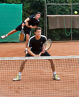 2013-08-17, Netherlands, Raalte,  TV Ramele, Tennis, NRTK 2013, National Ranking Tennis Champ,  Sidney de Boer (L) and Daan Maasland<br /> <br /> <br /> Photo: Henk Koster