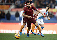 Roma's Mohamed Salah in action during the Serie A soccer match between Roma and Napoli at the Olympic stadium, 4 March 2017.<br /> UPDATE IMAGES PRESS/Isabella Bonotto