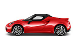 Car Driver side profile view of a 2018 Alfaromeo 4C - 2 Door Convertible Side View