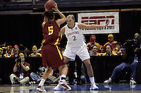 BERKELEY, CA - MARCH 30: Jayne Appel on defense during Stanford's 74-53 win against the Iowa State Cyclones on March 30, 2009 at Haas Pavilion in Berkeley, California.