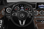 Car pictures of steering wheel view of a 2018 Mercedes Benz C-Class C-300 2 Door Convertible Steering Wheel