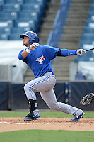 Toronto Blue Jays shortstop Deiferson Barreto (16) during an Instructional League game against the New York Yankees on September 24, 2014 at George M. Steinbrenner Field in Tampa, Florida.  (Mike Janes/Four Seam Images)