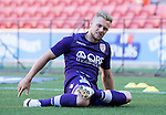 BRISBANE, AUSTRALIA - OCTOBER 30: Joe Mills of the Glory warms up before the round 4 Hyundai A-League match between the Brisbane Roar and Perth Glory at Suncorp Stadium on October 30, 2016 in Brisbane, Australia. (Photo by Patrick Kearney/Brisbane Roar)