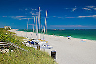sailboats at Juno Beach, one of the most productive sea turtle nesting sites in the world, Florida, Atlantic Ocean
