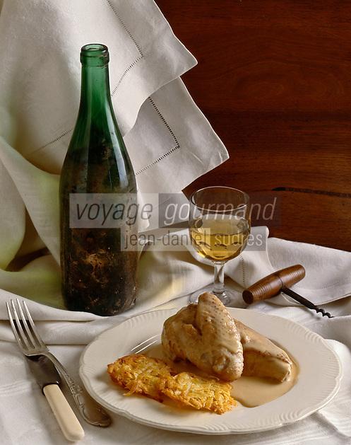 Europe/France/Pays de la Loire/44/Loire-Atlantique: Poularde à la crème et vieux muscadet -  AOC Muscadet du Sèvre et Maine