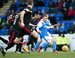 St Johnstone v Partick Thistle…27.01.18…  McDiarmid Park…  SPFL<br />Chris Millar puts the ball into the box<br />Picture by Graeme Hart. <br />Copyright Perthshire Picture Agency<br />Tel: 01738 623350  Mobile: 07990 594431