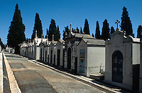 Portugal, Friedhof Prazeres in Lissabon