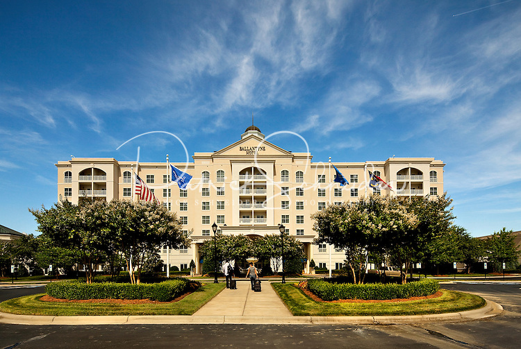 The Ballanytne Hotel is located in Ballantyne, a suburb of Charlotte NC, located near the South Carolina border. The 2,000-acre mixed-use development was created by land developer Howard C. Smokey Bissell.