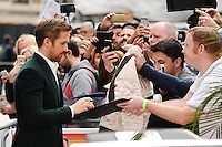"""Ryan Gosling<br /> arrives for the premiere of """"The Nice Guys"""" at the Odeon Leicester Square, London.<br /> <br /> <br /> ©Ash Knotek  D3120  19/05/2016"""