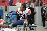 Rikiya Ishida (Linebacker Amsterdam Admirals) hat sich verletzt