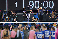 SAN JOSE, CA - AUGUST 17: Fans during a game between Minnesota United FC and San Jose Earthquakes at PayPal Park on August 17, 2021 in San Jose, California.