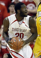 2 December 2006: Ohio State's Greg Oden plays against Valparaiso at Value City Arena in Columbus, Ohio. Oden was the nation's top high school player for the past two years and made his college debut tonight after sitting out with a wrist injury.<br />