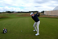 7th July 2021; North Berwick, East Lothian, Scotland; Robert MacIntyre Scotland on the 7th tee during the Celebrity Pro-Am at the abrdn Scottish Open at The Renaissance Club, North Berwick, Scotland.