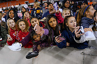 HOUSTON, TX - JANUARY 31: Fans of the United States beg for selfies during a game between Panama and USWNT at BBVA Stadium on January 31, 2020 in Houston, Texas.