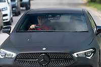 21st May 2020, Manchester, England;  Manchester United's Mason Greenwood arrives at the club s Carrington training ground for socially distanced training in Manchester, Britain on May 21, 2020. The Premier League clubs were allowed to start small-group training from Tuesday after the top-flight football league in England was suspended on March 13 due to COVID-19 outbreak.