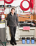 June 30, 2016. Blacksburg, Virginia. <br />  In one of the labs Marc Edwards oversees, a series of tests are being down on various types of water heaters to determine there susceptibility to the growth of the legionella bacteria. During the Flint, MI water crisis 12 people have died from exposure to legionella. <br /> Marc Edwards is a civil engineering/environmental engineer and the Charles P. Lunsford Professor of Civil and Environmental Engineering at Virginia Tech. He is an expert in water quality and corrosion, and his work in Washington DC  and in Flint, Michigan helped to expose high levels of lead contamination in the water supplies of those two cities, triggering investigations into the cause of the pollution.
