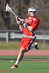 Baltimore, MD - March 3:  Attackmen Eric Warden #5 of the Fairfield Stagsduring the Fairfield v UMBC mens lacrosse game at UMBC Stadium on March 3, 2012 in Baltimore, MD.