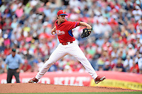 Philadelphia Phillies pitcher Aaron Nola (10) during a Spring Training game against the New York Yankees on March 27, 2015 at Bright House Field in Clearwater, Florida.  New York defeated Philadelphia 10-0.  (Mike Janes/Four Seam Images)