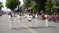 The Mariachi Monarcas Band, Colors of Freedom Parade, 4th of July, Everett, WA, USA.