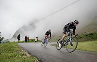 Mark Donovan (GBR/DSM) descending the Col de la Colombière (1618 m)<br /> <br /> Stage 8 from Oyonnax to Le Grand-Bornand (151km)<br /> 108th Tour de France 2021 (2.UWT)<br /> <br /> ©kramon