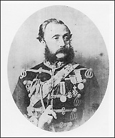 BNPS.co.uk (01202 558833)<br /> Pic: DNW/BNPS<br /> <br /> Pictured: Captain Thomas Johnson<br /> <br /> The medals of a miraculous survivor of the doomed Charge of the Light Brigade have emerged for sale for £12,000.<br /> <br /> Captain Thomas Johnson, of the 13th Hussars, was one of the 600 men who rode into the 'Valley of Death' in the near-suicidal action immortalised in Alfred Tennyson's famous poem.<br /> <br /> He had a horse killed underneath him and a lance thrust through his shoe case but kept on fighting, somehow escaping 'without a scratch'.<br /> <br /> Capt Johnson wrote a harrowing account of the battle to his brother afterwards describing how the 'splendid Light Brigade was reduced to almost nothing'.<br /> <br /> His medals, including those awarded to him by the French for his heroics during the Crimea campaign, are going under the hammer with London-based auctioneers Dix Noonan Webb.