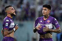 Cristiano Biraghi of ACF Fiorentina and Erick Pulgar of ACF Fiorentina during the Serie A 2021/2022 football match between ACF Fiorentina and SSC Napoli at Artemio Franchi stadium in Florence (Italy), October 3rd, 2021. Photo Andrea Staccioli / Insidefoto
