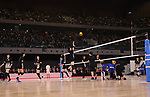 February 2, 2020, Tokyo, Japan - Japanese women's volleyball team members demonstrate a training session after the opening ceremony for the Ariake Arena in Tokyo on Sunday, February 2, 2020. Ariake Arena, 15,000 seats multiple purpose hall will be used for Olympic volleyball and Paralympic wheelchair basketball events.    (Photo by Yoshio Tsunoda/AFLO)