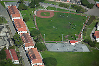 aerial photograph of a baseball diamond, Presidio, San Francisco, California