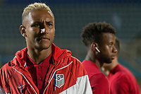 Couva, Trinidad & Tobago - Tuesday Oct. 10, 2017:  Juan Agudelo during a 2018 FIFA World Cup Qualifier between the men's national teams of the United States (USA) and Trinidad & Tobago (TRI) at Ato Boldon Stadium.