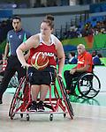 Arinn Young, Rio 2016 - Wheelchair Basketball // Basketball en fauteuil roulant.<br /> The Canadian women's wheelchair basketball team plays Germany in the preliminaries // L'équipe canadienne féminine de basketball en fauteuil roulant affronte l'Allemagne dans la ronde préliminaire. 11/09/2016.