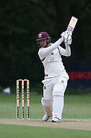 A West hits 4 runs for Brentwood during Wanstead and Snaresbrook CC (fielding) vs Brentwood CC, Hamro Foundation Essex League Cricket at Overton Drive on 19th June 2021