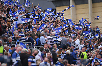 25th September 2021; The Recreation Ground, Bath, Somerset, England; Gallagher Premiership Rugby, Bath versus Newcastle Falcons; Bath fans welcome their team to the pitch