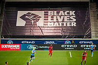 HARRISON, NJ - SEPTEMBER 23: HARRISON, NJ - Wednesday, September 23, 2020: Black Lives Matter Banner during a game between New York City FC and Toronto FC on September 23, 2020 at Red Bull Arena in Harrison, New Jersey during a game between Toronto FC and New York City FC at Red Bull Arena on September 23, 2020 in Harrison, New Jersey.