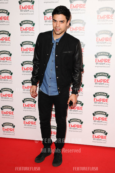 Sean Teale<br /> arives for the Empire Magazine Film Awards 2014 at the Grosvenor House Hotel, London. 30/03/2014 Picture by: Steve Vas / Featureflash