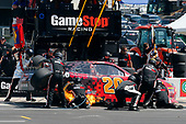 2017 NASCAR Xfinity Series<br /> My Bariatric Solutions 300<br /> Texas Motor Speedway, Fort Worth, TX USA<br /> Saturday 8 April 2017<br /> Erik Jones, Game Stop/ GAEMS Toyota Camry pit stop<br /> World Copyright: Russell LaBounty/LAT Images<br /> ref: Digital Image 17TEX1rl_3801