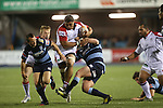 Ulster number 8 Nick Williams on the charge.<br /> RaboPro 12<br /> Cardiff Blues v Ulster<br /> Cardiff Arms Park<br /> 29.03.14<br /> <br /> ©Steve Pope-SPORTINGWALES