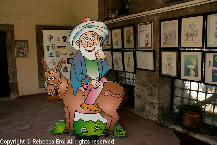 Nasrettin Hoca exhibition at the Museum of Cartoons and Humour in Zeyrek, Istanbul, Turkey