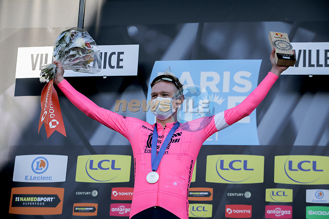 Magnus Cort Nielsen (DEN) EF Education-Nippo wins Stage 8 of Paris-Nice 2021, running 92.7km from Le Plan-du-Var to Levens, France. 14th March 2021.<br /> Picture: ASO/Fabien Boukla | Cyclefile<br /> <br /> All photos usage must carry mandatory copyright credit (© Cyclefile | ASO/Fabien Boukla)