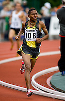 EUGENE, OR--Zersenay Tadesse races in the men's 2 mile at the Steve Prefontaine Classic, Hayward Field, Eugene, OR. SUNDAY, JUNE 10, 2007. PHOTO © 2007 DON FERIA