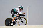 Martin Laas (EST) Bora-Hansgrohe during Stage 2 of the 2021 UAE Tour an individual time trial running 13km around  Al Hudayriyat Island, Abu Dhabi, UAE. 22nd February 2021.  <br /> Picture: Eoin Clarke | Cyclefile<br /> <br /> All photos usage must carry mandatory copyright credit (© Cyclefile | Eoin Clarke)