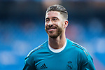 Sergio Ramos of Real Madrid in training prior to the UEFA Champions League 2017-18 match between Real Madrid and APOEL FC at Estadio Santiago Bernabeu on 13 September 2017 in Madrid, Spain. Photo by Diego Gonzalez / Power Sport Images