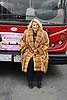 """Joan Rivers  honored by Gray Line New York with a """"Ride of Fame"""" bus with their name on a decal in the front of the bus on March 1, 2013 at Pier 78 in New York City."""